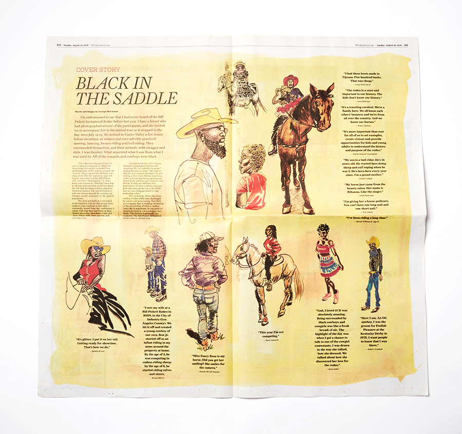 Bill Pickett Rodeo / SF Chronicle Feature